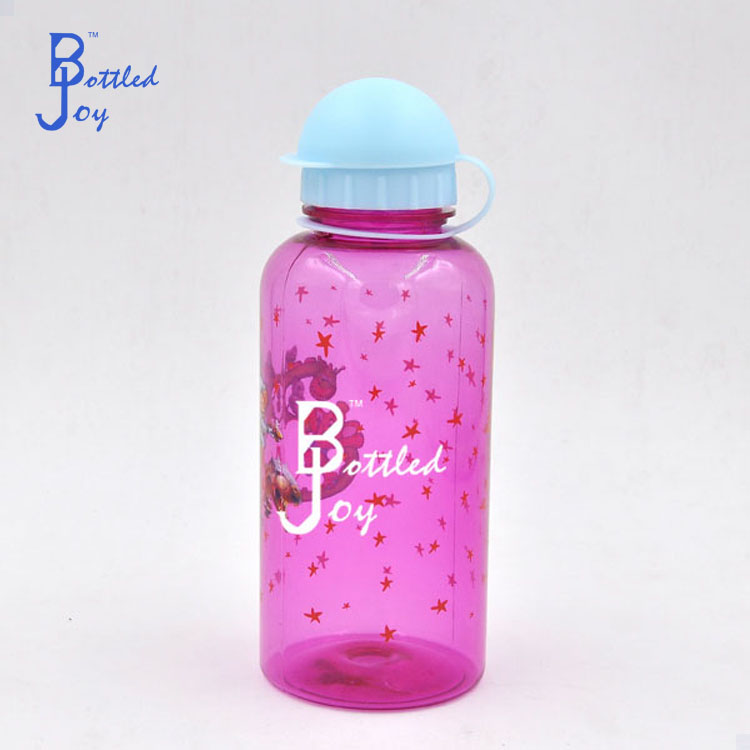 600ml health water bottle drinking tube, plastic water bottle in different shapes