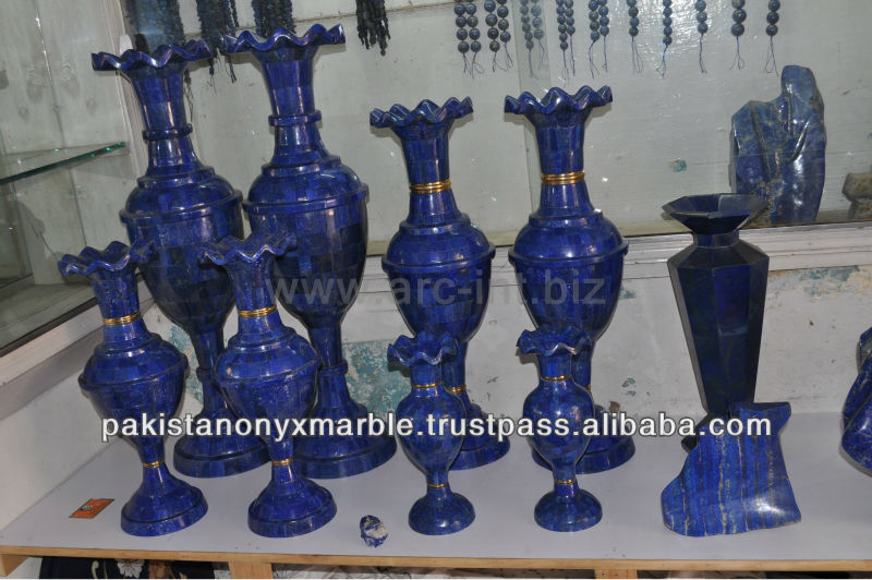 Lapis carving vases