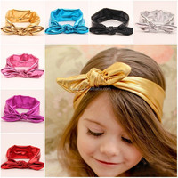 Girls Baby infant Knotted Headwraps Sequin Fabric Elastic Baby Headband
