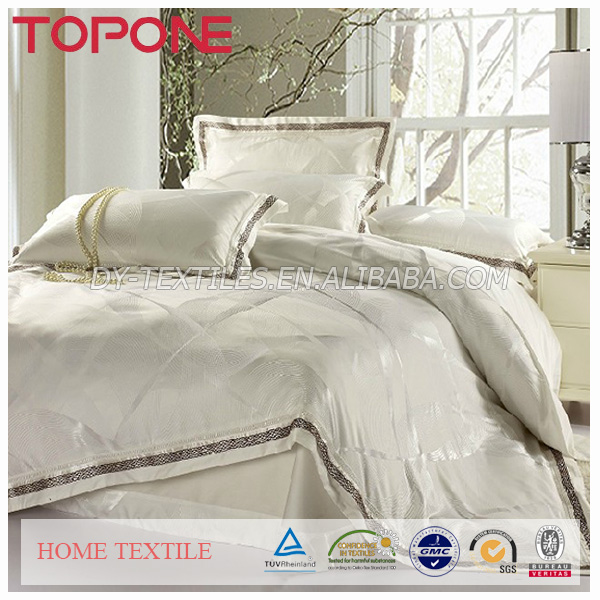 Professional Made In China plain hotel bedspreads fitted