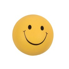 High quality soft smiley PU foam stress ball for promotion
