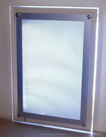 Custom picture frame led light box, led backlit light box, led light photo frame