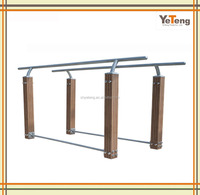 Wood Plastic Composite Parallel Bars In Outdoor Fitness Equipment