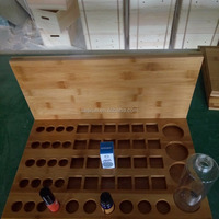 Wood Essential Oil Display With Solid