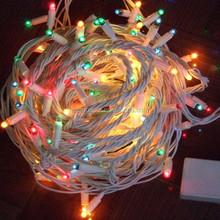 Multi functions 5M 100 Bulbs LED bule green red yellow white String Electric Fairy Lights Christmas Party Wedding decoration