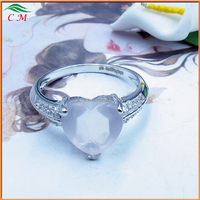 For your love your heart design sterling silver with zircon ring for girlfriend