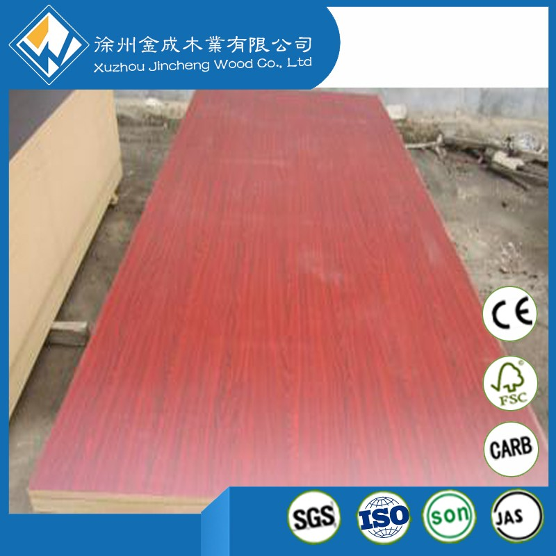 Reliable and Good China Cherry Melamine MDF 18mm *4*8