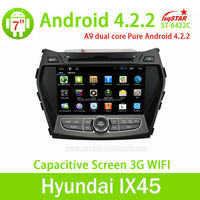 For Hyundai IX45/ New Santa fe 2013 Central Multimedia Pure Android 4.2.2 Car DVD Player