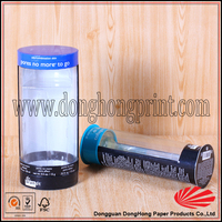 Cheap price printed round tube box/plastic box custom size