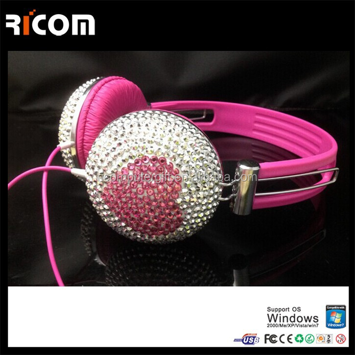Ricom crystal DJ headphone,Diamond DJ headphone,bling DJ headphone--Shenzhen Ricom