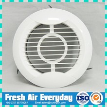 ABS plastic exhaust fan grill round wall ceiling outlet inlet fresh air duct grille