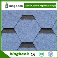 Mosaic Shape Asphalt Shingle For Villa House Roofing Using