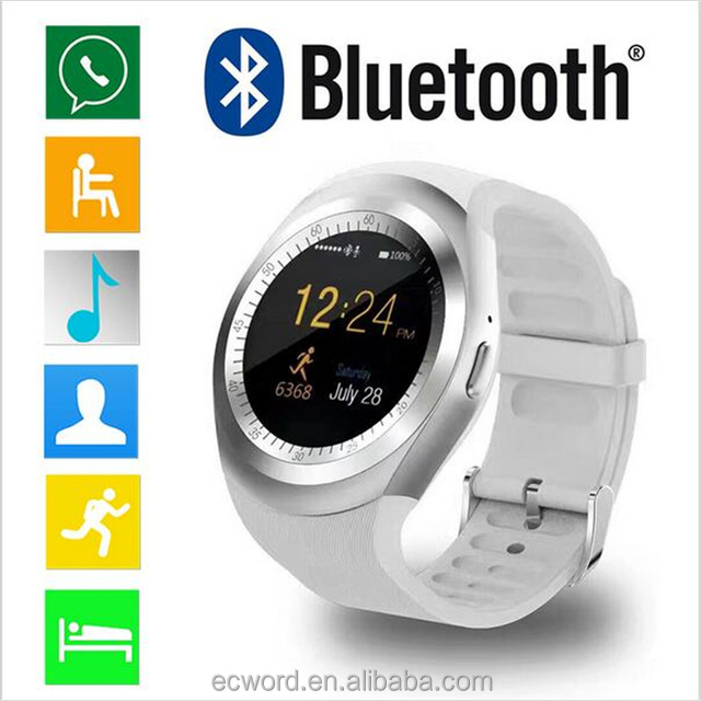 Bluetooth Smartwatch Y1 Smart Watch with SIM/TF Card slots for Apple for iPhone 7 for HTC for Xiaomi mobile phone