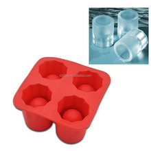newest high quality BPA free silicone glass shot ice cube tray