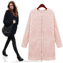 European and American fashion ladies warm plush wool coat