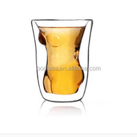 borosilicate double wall glass cup / coffee mug/tea sets / drinking glasses
