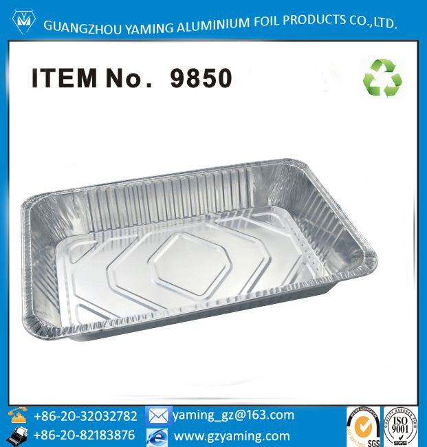 foil containers full size aluminium foil steam table pan cookie sheet pan with lid