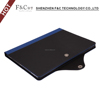 Premium shockproof hard PC shell smart stand color matching grain pu leather case for ipad air 2 cover