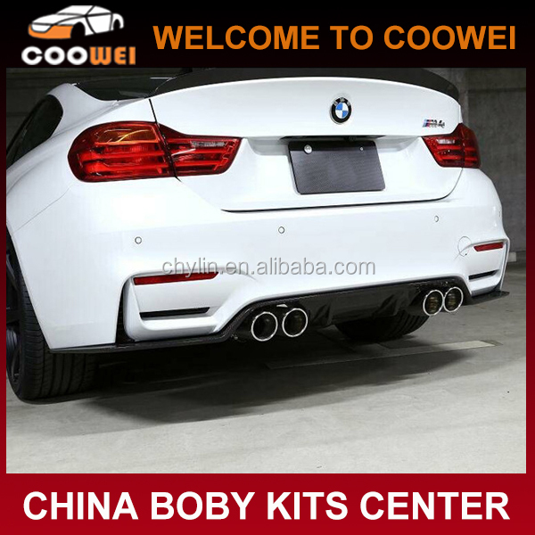 F80M3/F82M4 Carbon Fiber 3D Design Rear Diffuser For F80 F82 M3 M4 2015