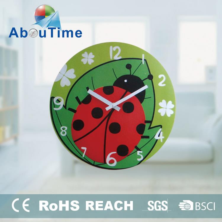 12inch clear classic design home decoration glass wall clock