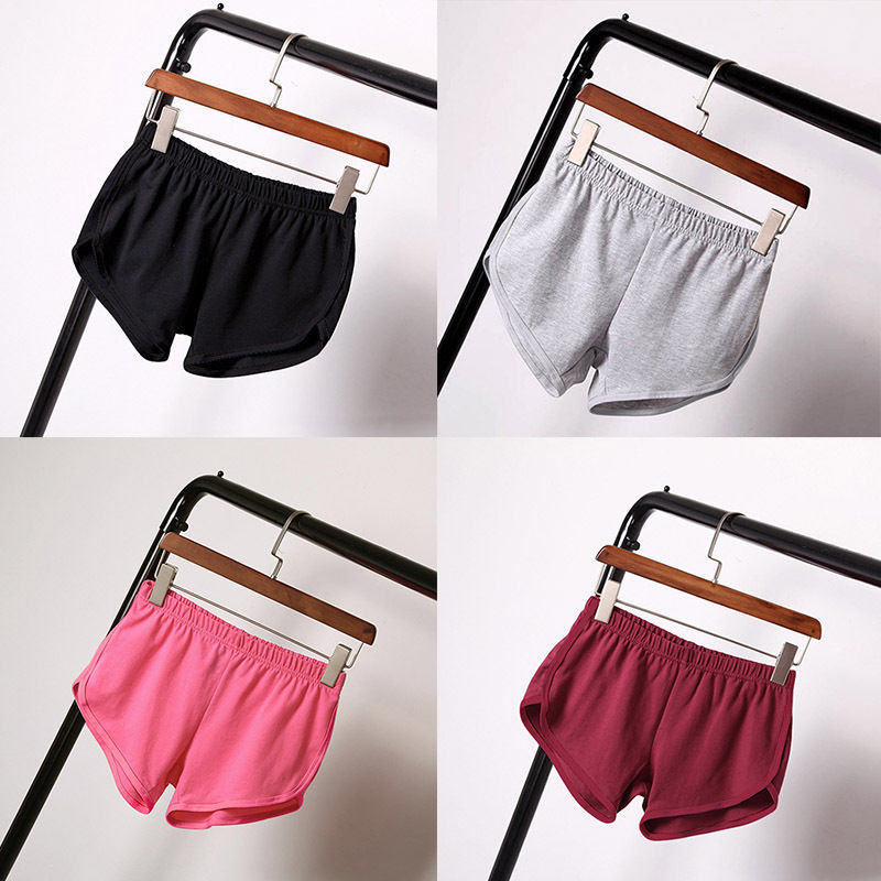 2017 Summer style Multi-Color Cotton Blend blank Workout Hot Pants