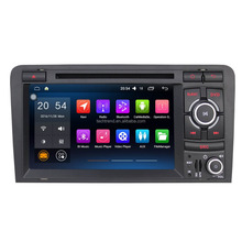 "7"" Android 2 Din Car GPS Navigator DVD Radio QUAD CORE 16G 1024*600 for A3(8P/8PA 2008-2012)"