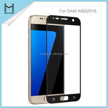 2017 trending products for samsung A8 3d full cover wholesale tempered glass screen protector