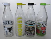 milk glass bottle with decal SP021-HT1,HT2,HT3,HT4