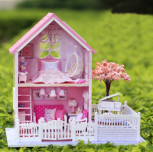 DIY Kit Doll house 3D Model Puzzle Wood Toy With Furnitures