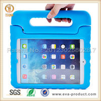 Handle grip design kids safe shock proof eva foam case for ipad mini 2