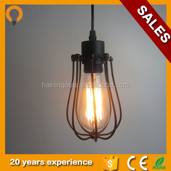 Modern simple style glass decorative e27 hanging pendant lamp vintage lighting accessories