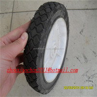 plastic rims and rubber wheels 7 inch for wheelbarrow