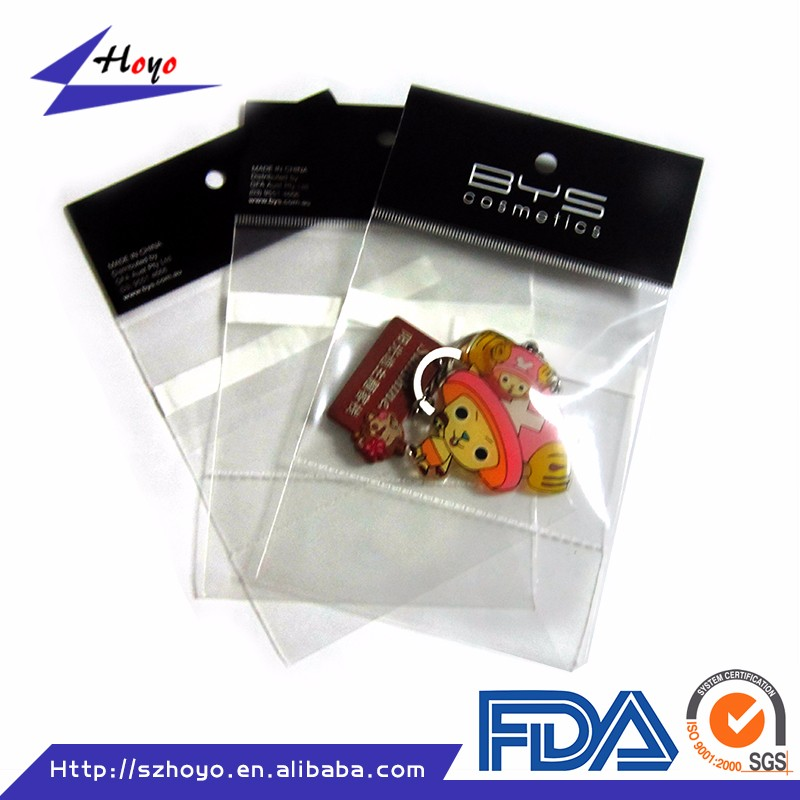 Wholesale Resealable Plastic For Small Gift's Use Packaging With Fishing Header Card Bag/.