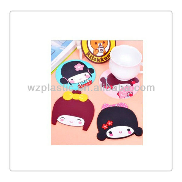 Fancy Cartoon PVC cup mat for kid