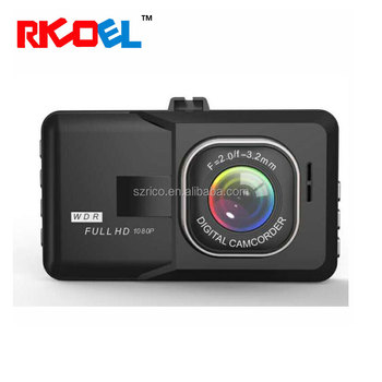 RICOEL Full HD 1080P Dash Cam 170 Degree Wide Angle 3 Inch Dashboard Camcorder Vehicle Camera Support G-Sensor, Night Vision, WD