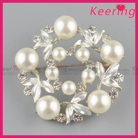Latest pearl stone Brooches fashion jewelry big brooch WBR-1602