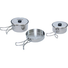 Top Quality Stainless Steel camping pots Outdoor cooking utensil kit