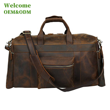 KID customized luxury storage waterproof mens genuine leather travel bag