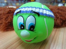 dog products 7cm tennis ball with green color, pet toys, pet products