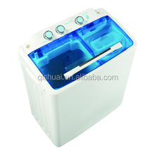 two layers the top loading plastic cover semi auto twin tub washing machine with CE CB SASO