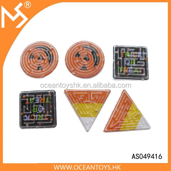 Intelligence toys custom print Halloween gifts plastic mini maze game