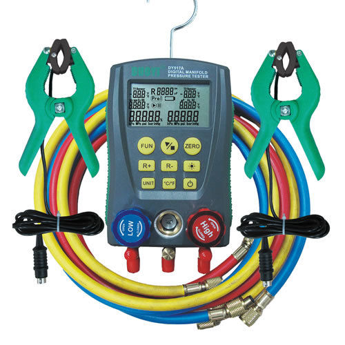 DY517A HVAC 2-way Valve Digital Manifold Gauge Refrigeration Pressure Tester