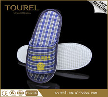 Plaid Slipper Closed toe men indoor bedroom slipper