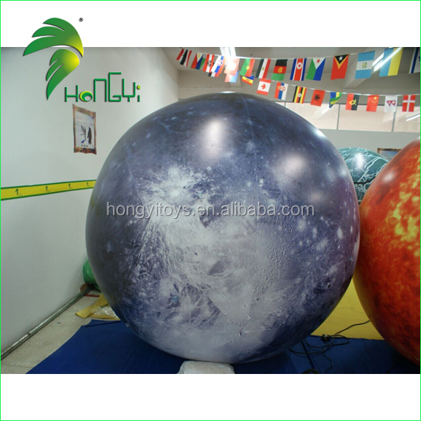 Sky Helium Flying Decorative Inflatable Solar System , Inflatable Nine Planets For Sale