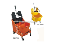 new plastic quality mop wringer bucket with handle and wheels