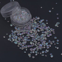 Decorative Iridescent clear glass beads for swimming pool