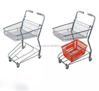 Factory Direct Price double Basket shopping Trolley Carts