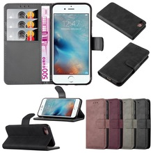 Retro Leather Flip Case For iphone 7 Case Protective Wallet Phone Cover for apple iphone 7