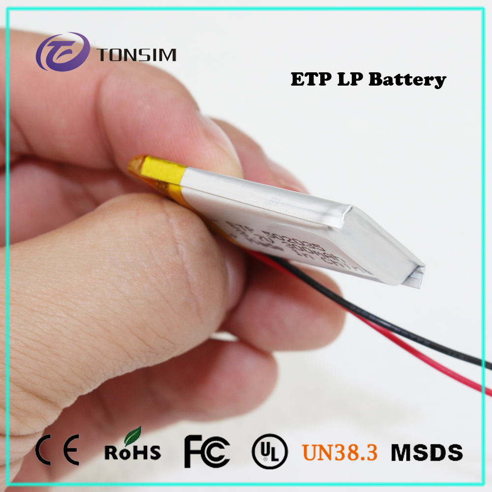 cheap customized lipo 502035 300mAh 3.7V rechargeable battery micro shape battery