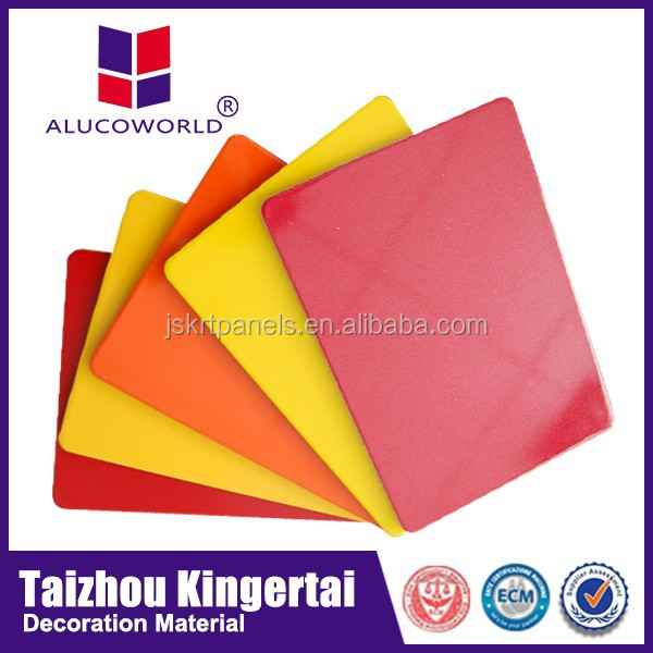 Alucoworld Popular hot sale color place paint color chart outdoor roof aluminium sandwich panel acp sheet